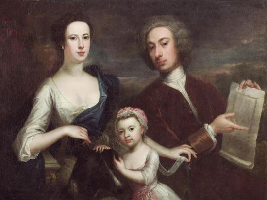 Portrait of Richard Boyle and Dorothy Savile-William Aikman-Giclee Print