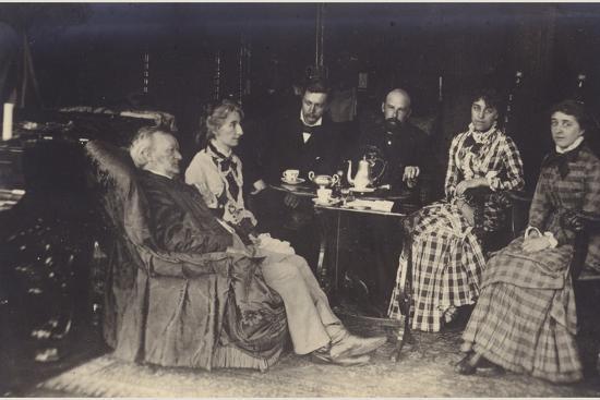 Portrait of Richard Wagner with Friends and Family-German photographer-Photographic Print