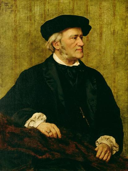 Portrait of Richard Wagner-Giuseppe Tivoli-Giclee Print