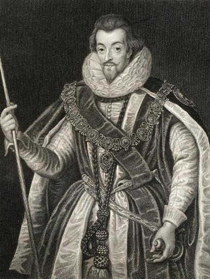 Portrait of Robert Cecil, 1st Earl of Salisbury (1563-1612), from 'Lodge's British Portraits', 1823-English School-Giclee Print