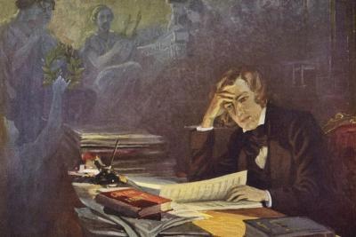 Portrait of Robert Schumann--Giclee Print
