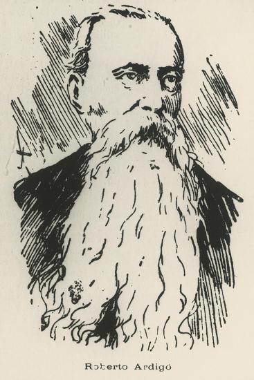 Portrait of Roberto Ardigo--Giclee Print