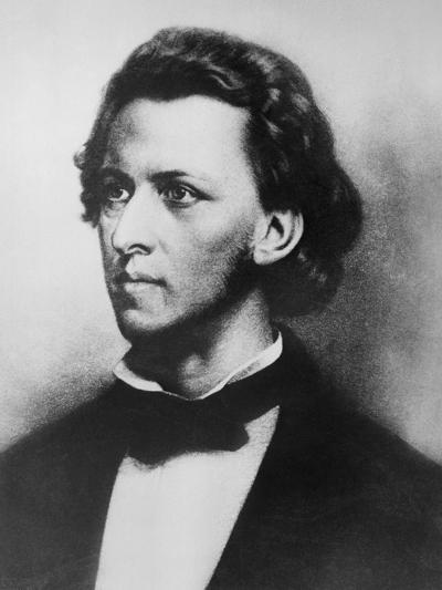 Portrait of Romantic Era Music Composer Chopin--Giclee Print