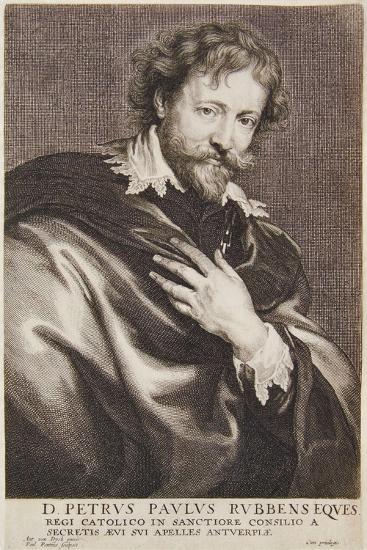 Portrait of Rubens, Icones Principum Virorum, 1630-45-Paulus Pontius-Giclee Print