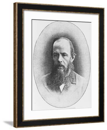 Portrait of Russian Author Feodor M. Dostoyevsky, 1821-1881--Framed Photographic Print
