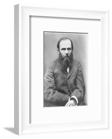 Portrait of Russian Author Feodor M. Dostoyevsky, 1821-1881--Framed Photographic Print