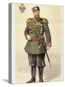 Portrait of Russian Emperor Alexander III from English Periodical Vanity Fair