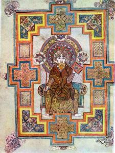Portrait of Saint John from the Book of Kells, C800