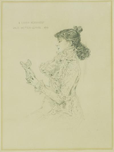 Portrait of Sarah Bernhardt, 1879-Jules Bastien-Lepage-Giclee Print