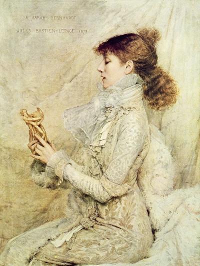 Portrait of Sarah Bernhardt-Jules Bastien-Lepage-Giclee Print