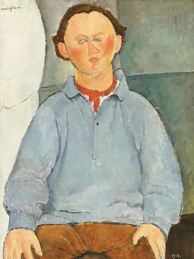 Portrait of Sculptor Oscar Miestchanioff, circa 1916-Amedeo Modigliani-Giclee Print