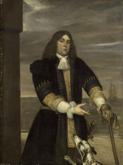 Portrait of Sea Captain Jan Van Gelder, Stepson of Michiel Adriaensz De Ruyter-Jan Andrea Lievens-Art Print