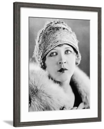 Portrait of Serious Young Woman--Framed Photo