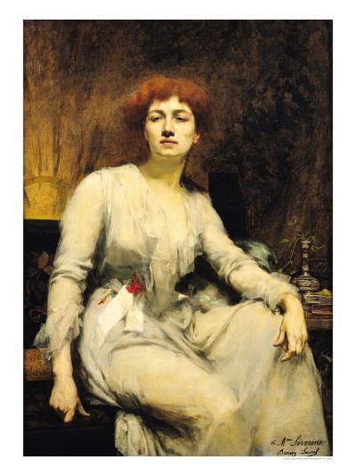 Portrait of Severine 1893-Amelie Beaury-saurel-Giclee Print