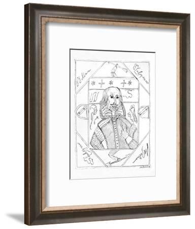 'Portrait of Shakespeare', 1790s, (1910)-William Henry Ireland-Framed Giclee Print