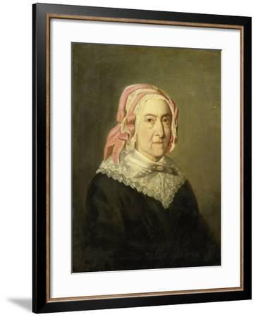 Portrait of Sientje Nijkerk-Servaas at 90 Years Old-Jozef Israels-Framed Art Print
