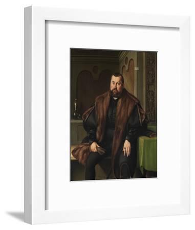 Portrait of Sigismund Baldinger (1510-155), 1545-Georg Pencz-Framed Giclee Print