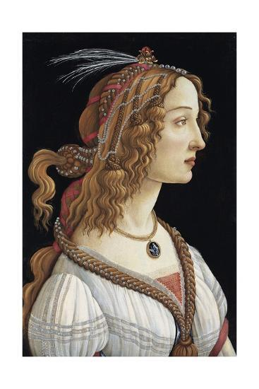 Portrait of Simonetta Vespucci as a Nymph by Sandro Botticelli--Giclee Print