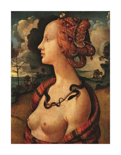 Portrait of Simonetta Vespucci, c. 1480-Piero di Cosimo-Art Print