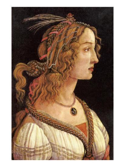 Portrait of Simonetta Vespucci-Sandro Botticelli-Art Print