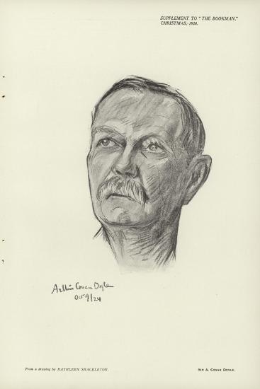 Portrait of Sir Arthur Conan Doyle--Giclee Print
