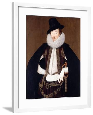 Portrait of Sir Charles Cornwallis-Robert Peake The Elder-Framed Giclee Print