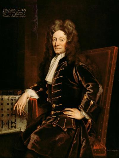 Portrait of Sir Christopher Wren-Godfrey Kneller-Giclee Print