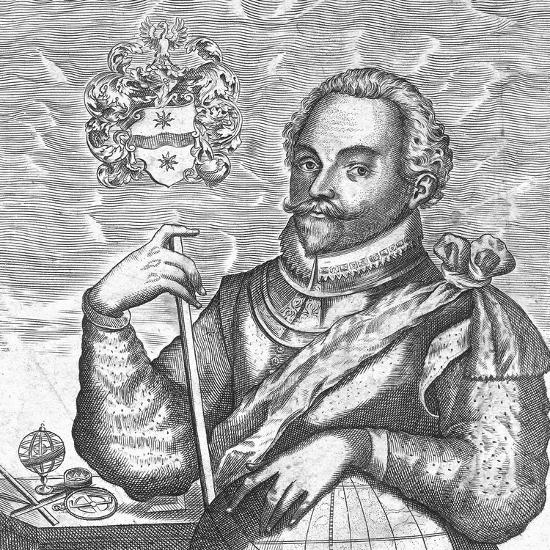 Portrait of Sir Francis Drake. (Frontispiece from the World Encompasse), 1628--Giclee Print