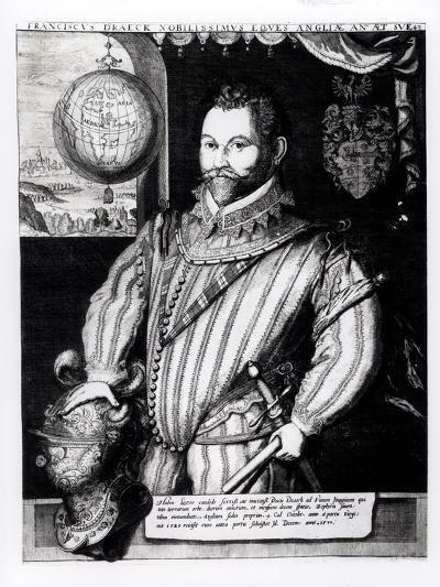Portrait of Sir Francis Drake--Giclee Print
