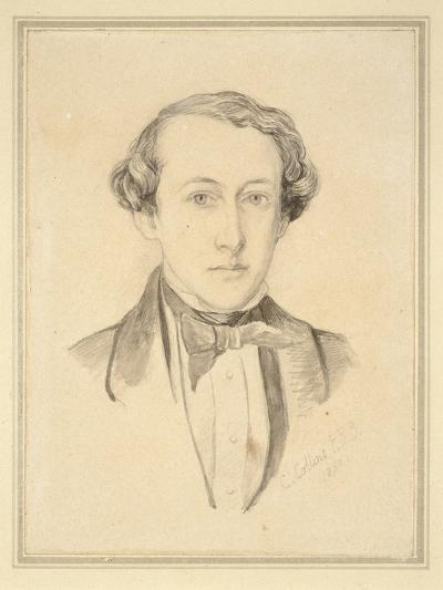 Portrait of Sir John Everett Millais, 1850 (Graphite with Watercolour on Discoloured Cream Paper)-Charles Alston Collins-Giclee Print
