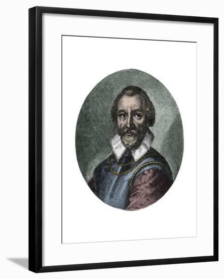 Portrait of Sir Martin Frobisher-Stefano Bianchetti-Framed Giclee Print