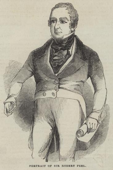 Portrait of Sir Robert Peel--Giclee Print