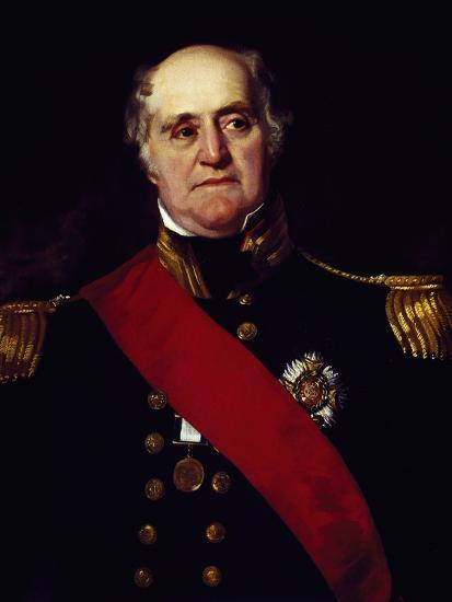 Portrait of Sir Thomas Masterman Hardy, Vice-Admiral of Blue--Giclee Print