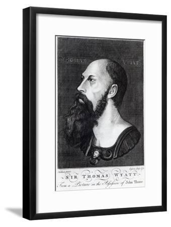 Portrait of Sir Thomas Wyatt the Younger-Hans Holbein the Younger-Framed Giclee Print