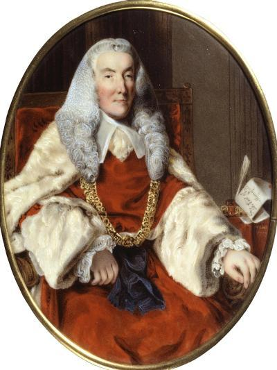 Portrait of Sir William Murray, 1st Earl of Mansfield (Enamel on Copper)-William Russell Birch-Giclee Print
