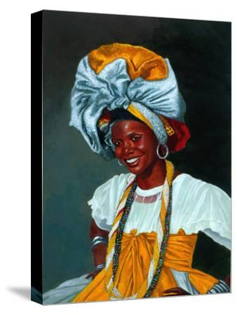 Portrait of Smiling Woman in Cultural Garb