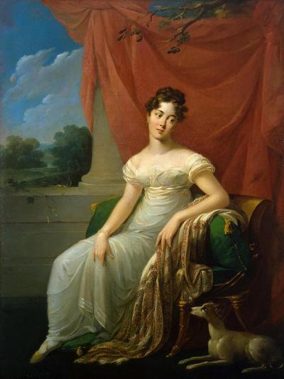 Portrait of Sofia Apraxina, 1818-Henri-Françoiss Riesener-Giclee Print