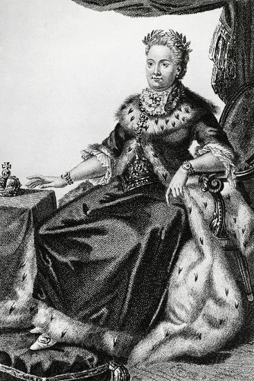 Portrait of Sophia Augusta Frederica of Anhalt-Zerbst--Giclee Print