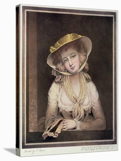 Portrait of Sophia Western-John Hoppner-Stretched Canvas Print