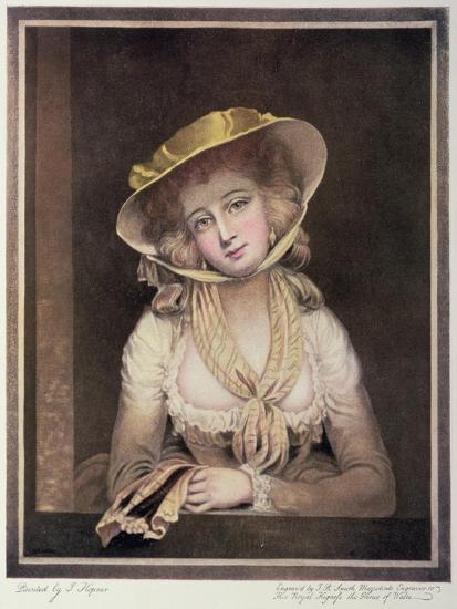 Portrait of Sophia Western-John Hoppner-Giclee Print