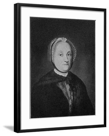 Portrait of Sophie De La Font (1717-179), Second Half of the 18th C--Framed Giclee Print