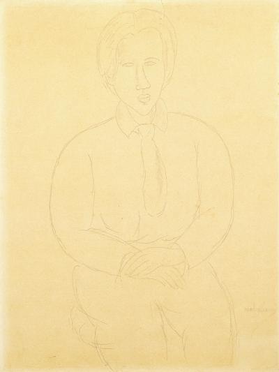 Portrait of Soutine Sitting, 1917-Amedeo Modigliani-Giclee Print