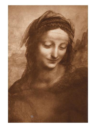 Portrait of St. Anne by Leonardo da Vinci-Bettmann-Giclee Print