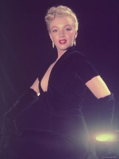 Portrait of Starlet Marilyn Monroe-Ed Clark-Premium Photographic Print