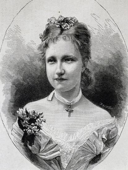 Portrait of Stephanie of Saxe-Coburg-Gotha--Giclee Print