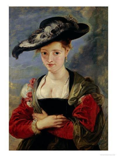 Portrait of Suzanne Fourment (Also Called The Straw Hat)-Peter Paul Rubens-Giclee Print