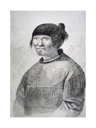 Portrait of Tattooed Native from Island of Unalaska, 1778-John Webber-Giclee Print