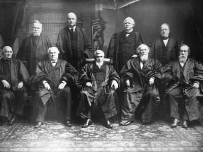 Portrait of the 1888 Supreme Court-C.M. Bell-Photographic Print