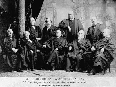 Portrait of the 1890 Supreme Court-Napoleon Sarony-Photographic Print