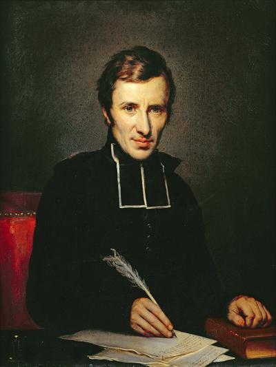 Portrait of the Abbot of Lamennais, 1827-Paulin Jean Baptiste Guerin-Giclee Print